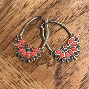 Lucky Brand orange stone earrings